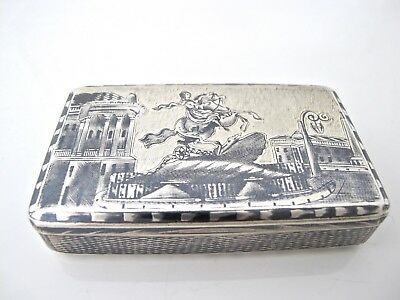 Stunning Imperial Russian silver snuff box Moscow 1840