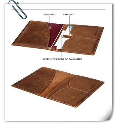 Pro Leather RFID Blocking Passport Travel Wallet Holder ID Cards Cover Case!