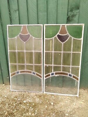 Vintage stained glass window rustic home decor church, door decor