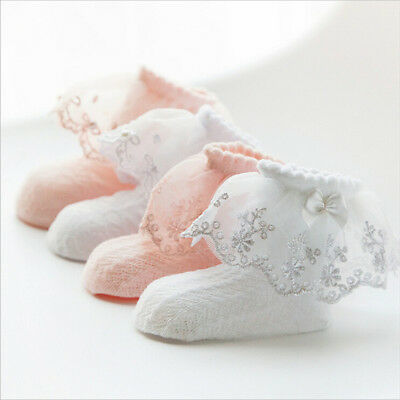 Baby Princess Lace Socks Girls Frilly Laced Top Ankle Socks Sock Cute Hot UK