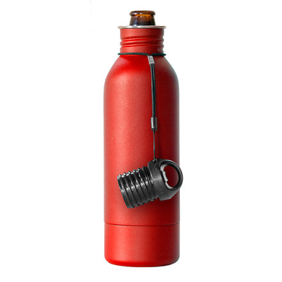BottleKeeper - The Bomber 2.0 with extra cap with opener & tether-  Red.