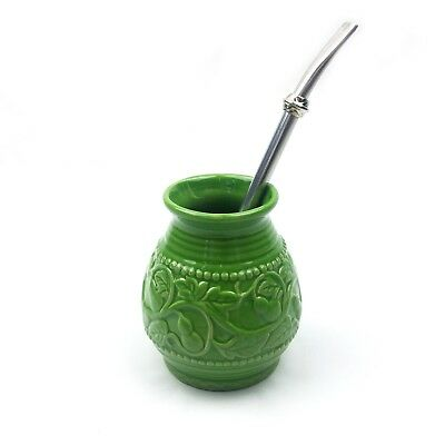Yerba Mate Green Gourd And Bombilla Set Ceramic Cup And Straw Starter Pack