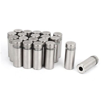 Letop Stainless Steel Wall Mount Glass Standoff Holder Screw Nails 12 x 2... New