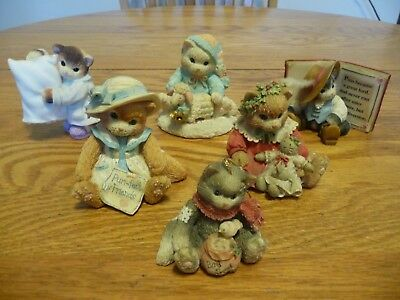 Calico Kittens by Enesco Lot of 6 Figurines