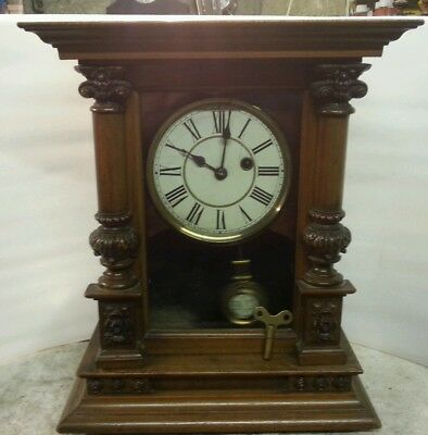 Antique bracket / mantle clock PHS, spares or restoration.