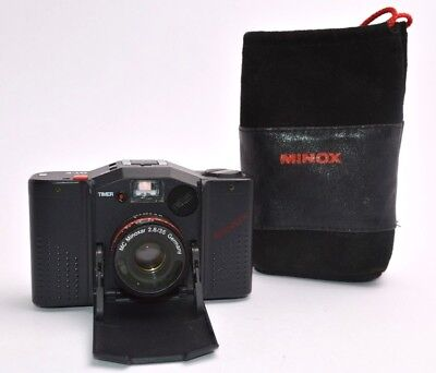 MINOX GT-E GTE Kompaktkamera 35mm Camera, MC Minoxar 2,8 / 35 mm Lens + Case u17