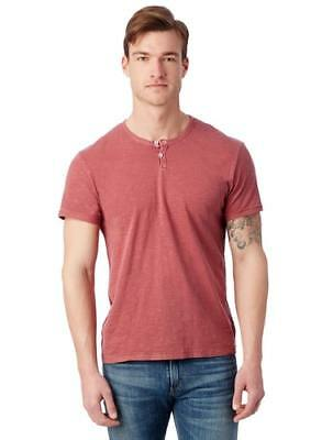 New Alternative Apparel Mens Home Team Garment Dyed Slub Henley Shirt