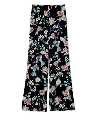 New Vince Camuto Womens Floral-Print Wide-Leg Pants