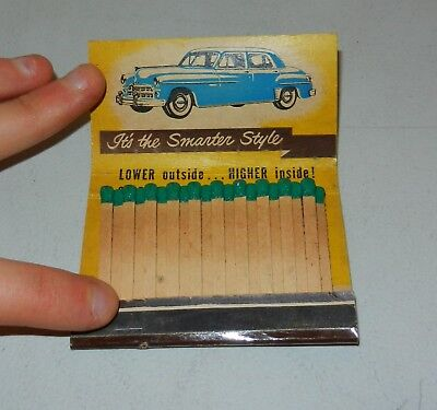 Vintage 1950s Dodge Advertising Matchbook w/ Car Graphic Lakeland Solvay N.Y.