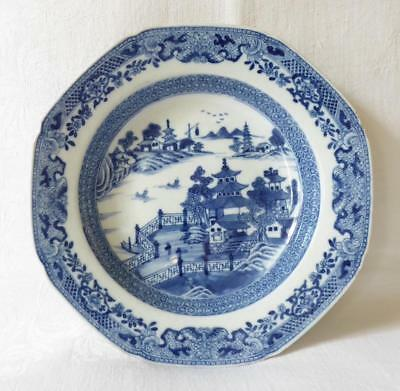 Antique 18Th Century Chinese Blue And White Porcelain Bowl