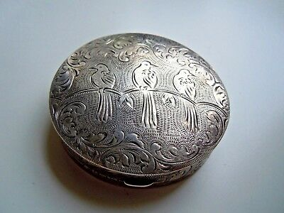 very old imperial RUSSIAN 84 silver Powder BOX Faberge design 19th century