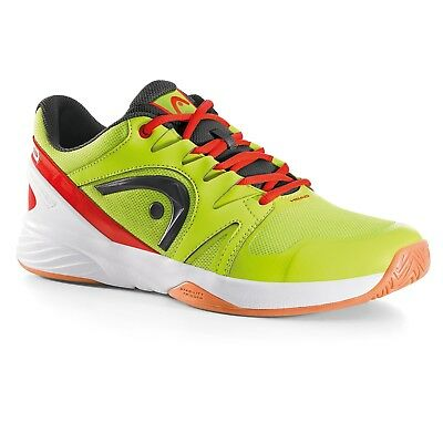 Head Mens Nitro/Nzzzo Squash & Indoor Court Shoes - Neon Yellow/Flame RRP £69.99