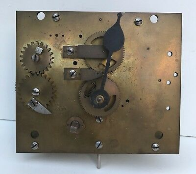 Large Brass Clock Empire Movement