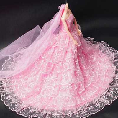 Pink Wedding Dress Fashion Party Clothes/Gown+Veil Princess For Do Gift