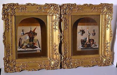 Pair Antique British Oil painting on Canvas 18th - 19th Century