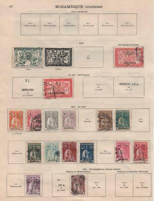 MOZAMBIQUE: 1913-1921 Examples - Ex-Old Time Collection - 2 Sides Page (17014)