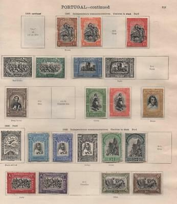 PORTUGAL: 1927-1929 Examples - Ex-Old Time Collection - 2 Sides Page (16958)