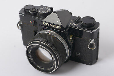 Olympus OM1 Black Body with Zuiko 50mm f1.8 Lens Sold for Parts or repair ONLY