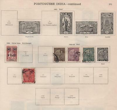 PORTUGUESE INDIA: 1932-34 - Ex-Old Time Collection - Part Album Pages (16986)