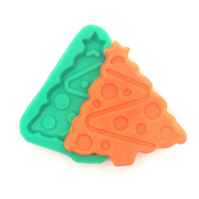 Silicone Christmas Tree Cake Chocolate Jelly Biscuits Soap Mold DIY Baking Mould