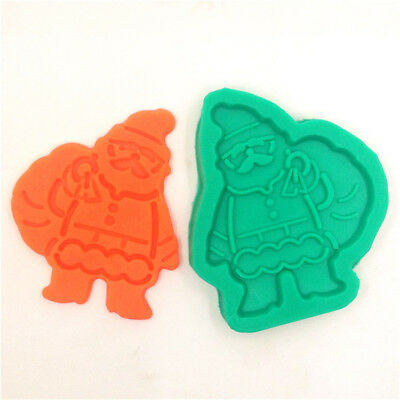 Silicone Christmas Santa Cake Chocolate Biscuit Mold Fondant Pastry Mould Decora
