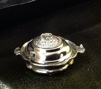 Fabulous EUGENE KUPJACK miniature(1:12) Silver FOOTED PLATTER w/COVER