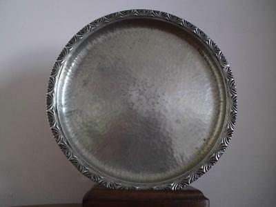 ARTS & CRAFTS Archibald Knox Liberty & Co Tudric hammered Pewter Tazza  01371
