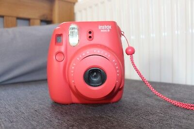 Instax mini 8 pink blush instant flash camera immaculate condition