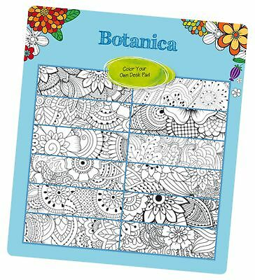 blueline 2018 2019 doodleplan academic coloring desk pad calendar botani new