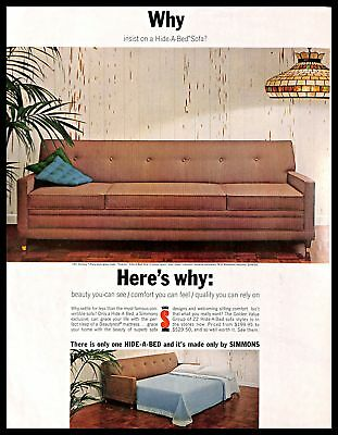 Phenomenal 1966 Simmons Hide A Bed Sofa Vintage Print Ad Furniture Home Creativecarmelina Interior Chair Design Creativecarmelinacom