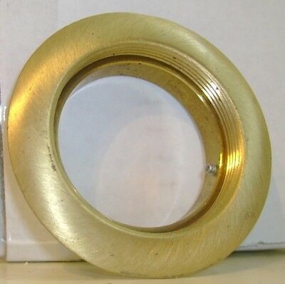 Hubbell F-21383 Brass Round Floor & Carpet Flange Extension 2 1/8""