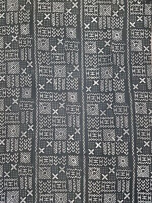 FREE SHIPPING! Authentic African Mud Cloth Fabric Handwoven Black