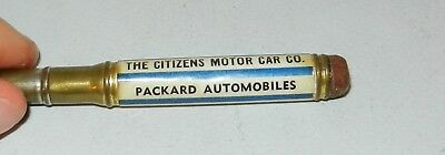 NICE 1930s Packard Automobiles Advertising Celluloid Bullet Pencil Indy IN