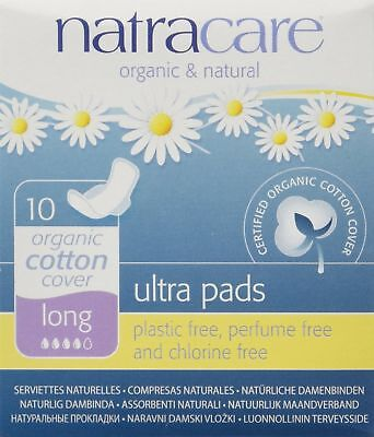 Natracare 3104 Ultra Long Pads 10 Count, 6 Pack New