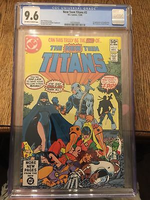 New Teen Titans 2 CGC 9.6 First appearance of Deathstroke