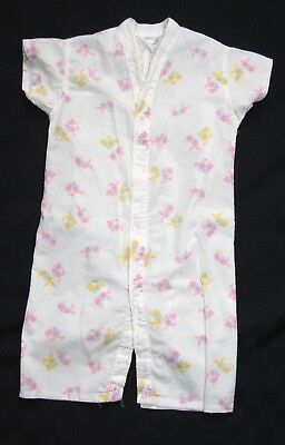 Vtg Greencraft Child Baby Romper Cotton Pajamas Easter Bunny Print 12 Mos