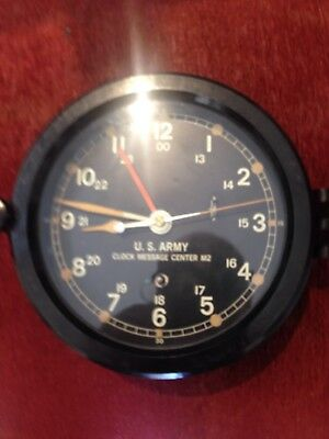 Vintage Working CHELSEA message center M2 Navy Ships Clock W/ Bakelite Case