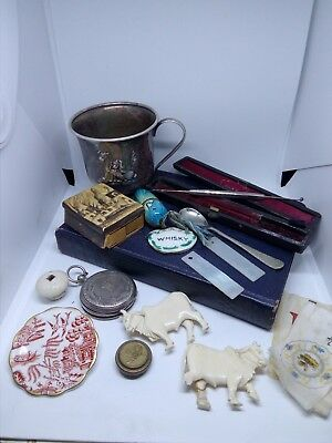 Collection of Vintage Antique Collectables and Curios ...Job lot