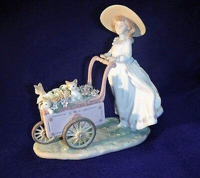 LLadro Kitty Cart W/ Girl Beautiful!!!!