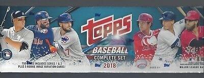 """Topps 2018 Factory Sealed Complete Baseball Set """"hot Rookies"""""""