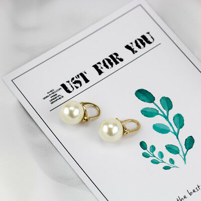 Kate Spade Faux Pearl Drop Earrings WHITE gold tone NEW with dust bag