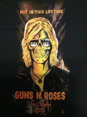 Guns N Roses Forum Los Angeles Duff 11/25 Xxl Shirt Bought At The Show