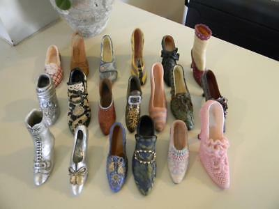 Lot Of 19 Miniature Shoes My Treasure Just The Right Shoe And Others