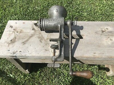 Antique Universal # 3 Grinder , Early 1900 , With Blades