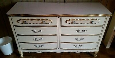 Vintage White French Provincial Country Style dresser