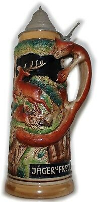 Beer Mug Hunters Hunting fuchshenkel Original King Deer Fox Collection Jug 1,5