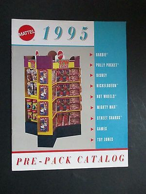 Mattel 1995 Pre Pack Toy Catalog Barbie/hot Wheels/disney/etc Mint