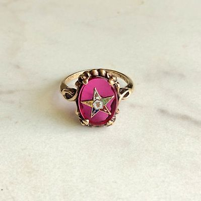 Order of the Eastern Star 10K Gold Ring