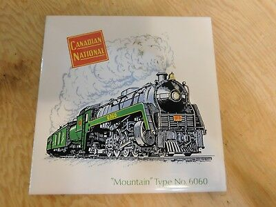 CNR Mountain Type No.6060 Locomotive Train Headford Ceramics 6x6 Tile