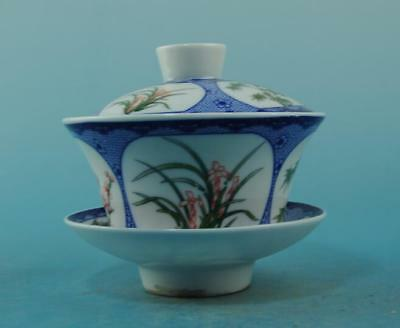Chinese old porcelain famille rose DLMCH-MLZJ teacup /qianlong mark 48 b02